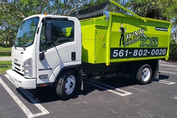 Junk Boss truck in the parking lot