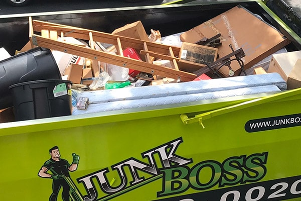 Junk Boss truck loaded with junks